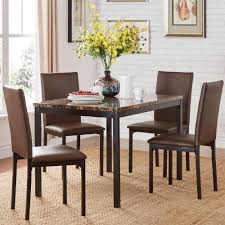 home styles 5 piece oak dining set 5179 318 the home depot