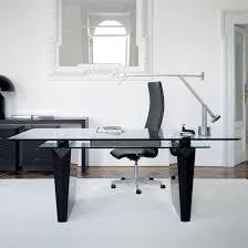 modern glass work desk and black office ivedi preceptiv co
