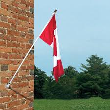 Rv Flag Poles Flags Unlimited 6 Feet Spinning Wall Mount Flagpole With Canadian