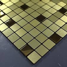 metallic mosaic tiles brushed aluminum metal tile stainless steel 9101