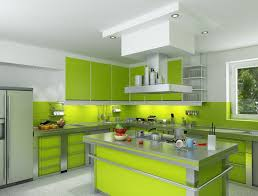 fresh green kitchen home design image contemporary and green