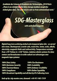 sdg master long term archiving and mastering technology