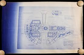 Millennium Falcon Floor Plan by Star Wars And Star Trek Blueprint Auction Preview Gallery Prop