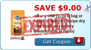 printable nature s recipe dog food coupons 23 in nature s recipe pet food coupons redeemable at petco
