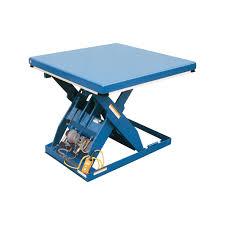 ideas vestil rotary air and hydraulic scissor lift table design