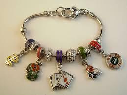 metal bracelet charms images Pandora inspired gambler charm bracelet dollar cards casino jpg