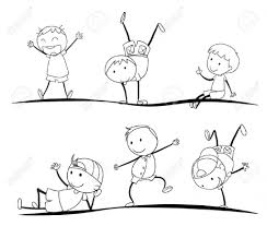 drawing sketches for kids how to drawing sketch for kid playing