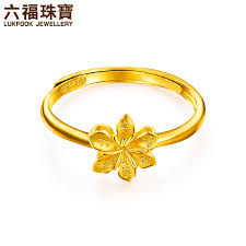 simple rings gold images Luk fook jewellery gold ring scorpion flower foot gold ring female jpg