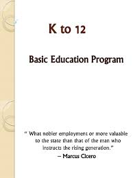 k to 12 ppt secondary primary education