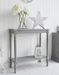 Grey Console Table Colonial Furniture Small Console Table With Shelf For