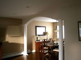 interior arch designs for home how to build a dining room arch hgtv