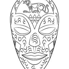 coloring african mask kids drawing coloring pages