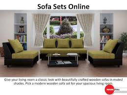 cheapest sofa set online ppt buy sofa set online in india at housefull co in powerpoint