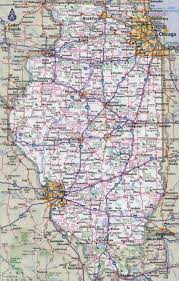 Illinois State Parks Map by Large Detailed Roads And Highways Map Of Illinois State With All