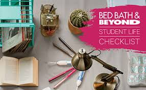 Check Bed Bath And Beyond Gift Card Balance College Checklist Bed Bath U0026 Beyond