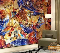 custom abstract art brain storming wallpaper mural star color life