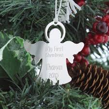 personalized new baby silver ornament the catholic company