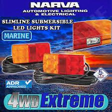 submersible led boat trailer lights narva led submersible trailer lamp pack boat marine l e d light