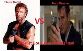 Liam Neeson Meme - chuck norris vs liam neeson chuck norris know your meme