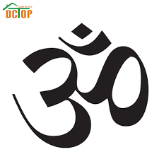 dctop sale om sign wall sticker yoga removable home decor