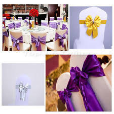 Chair Sashes 100 Chair Sashes Venue Decorations Ebay