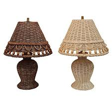 beaches wicker lamps