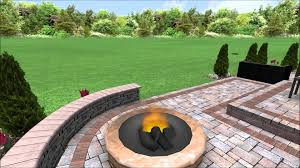 Unilock Fire Pit by Unilock Patio With Rivercrest Walls U0026 Fire Pit Youtube