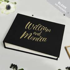wedding guest book photo album wedding guest book album black with gold lettering empty pages