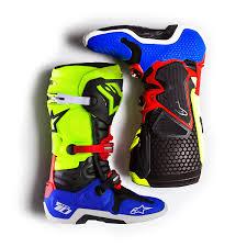 alpine motocross boots new alpinestars 2017 mx tech 10 black blue red fluro yellow
