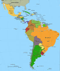 Map Central And South America by Islam In Caribbean Central And South America
