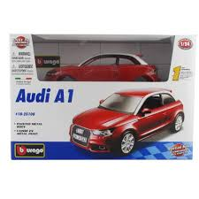 audi a1 model car audi a1 diecast model car kit by bburago 18 25108