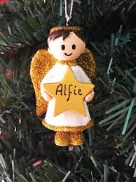 Personalised Christmas Angel Decorations by Personalised Christmas Tree Decorations