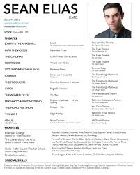 Free Acting Resume Template Download Performance Resume Template Resume Template And Professional Resume