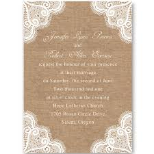 lace wedding invitations inexpensive rustic lace burlap wedding invitations iwi262