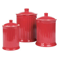 furniture modern red ceramic kitchen canister sets with iron stop