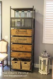 custom made metal storage cabinets 4 drawer media tower or storage cabinet vintage wood crates
