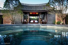 bedroom resort design with swimming pool chinese architecture