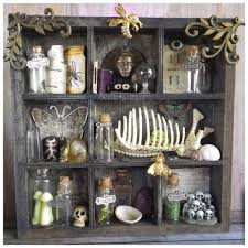 Curio Cabinets Shelves Curio Cabinet Shelf Witch Apothecary Macabre Trinket By Lotusfairy