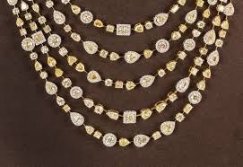 white necklace diamond images Incredible multi shape yellow and white diamond gold necklace for jpg