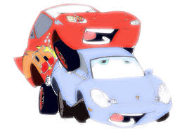 cars sally and lightning mcqueen kiss about an hour after the final scene in many disney movies the