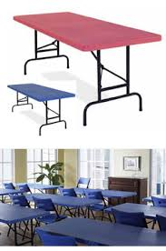 plastic folding tables adjustable height all american colors adjustable height plastic folding tables by nps