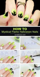 vicky loves nails flame nail art purple glitter flame nail art