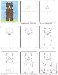 draw a standing bear bears tutorials and drawings