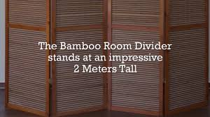 bamboo room divider 2 meter tall 4 panel room dividers uk