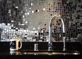 Best Bling Backsplash Images On Pinterest Kitchen Backsplash - Silver backsplash