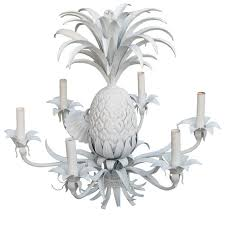 Pineapple Sconce Tin And Plaster Six Light Pineapple Chandelier At 1stdibs