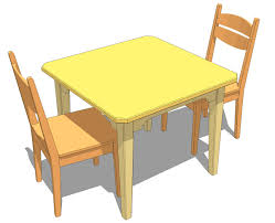 Sturdy Kitchen Table by Tamon