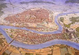 Map Of Lyon France by Lugdunum In The 2nd Century Ad Nowadays Lyon In France Papertowns