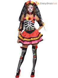 Skeleton Halloween Dress by Amscan Womens Day Of The Dead Senora Sugar Skull Halloween Fancy