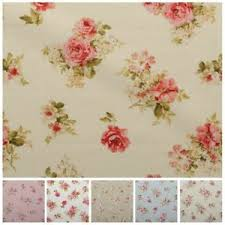 vintage chintz shabby roses print retro 100 cotton curtain
